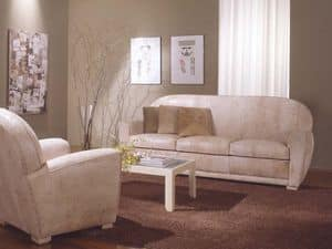 Geo Sofa, Ledersofa für das Wohnzimmer und Wartezimmer
