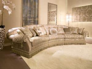 Glicine Ring, Polsterhalbrunden Sofa, für klassischen Stil Wohnzimmer