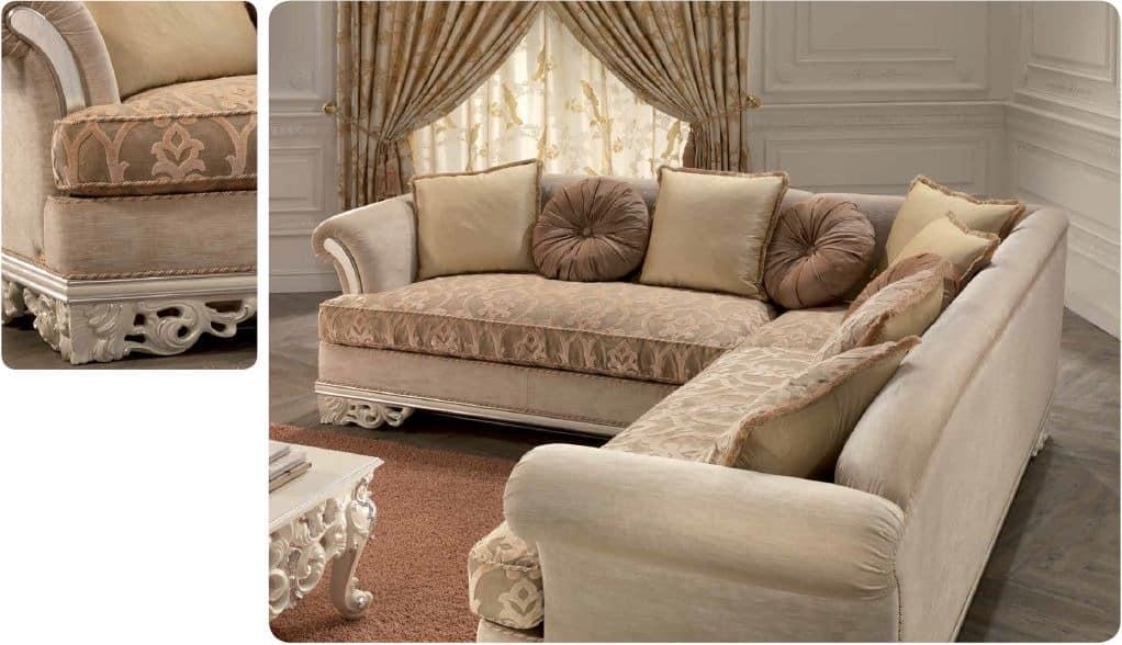 ecksofa f r luxus klassischen wohnzimmer geschnitzt idfdesign. Black Bedroom Furniture Sets. Home Design Ideas