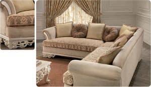Golf, Ecksofa für Luxus klassischen Wohnzimmer, geschnitzt
