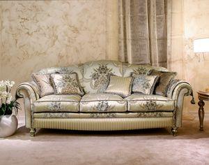 Ibisco, Klassisches Sofa in geschmücktem Samt