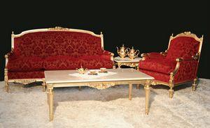 Impero klassisches Wohnzimmer, Elegantes Empire-Stil Wohnzimmer