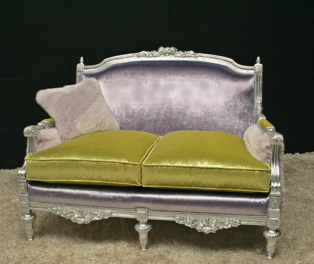 Neues Barock Sofa Aus Geschnitztem Massivholz Idfdesign
