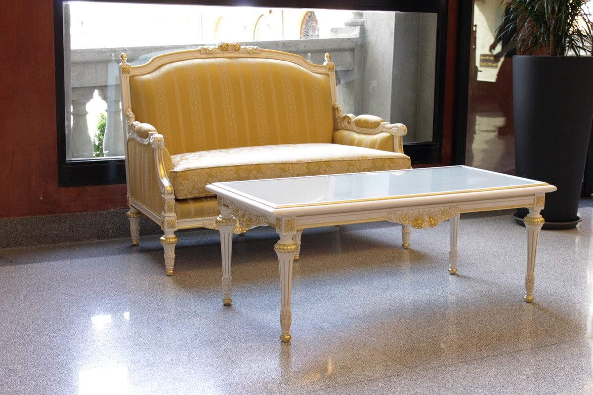 Impero Stoff, Sofa in Italien handgefertigt, von italienischen Meistern