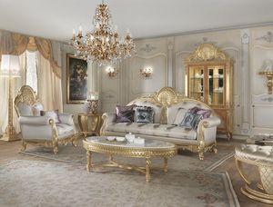 Lario Sofa, Klassisches Sofa mit Spitzendekorationen
