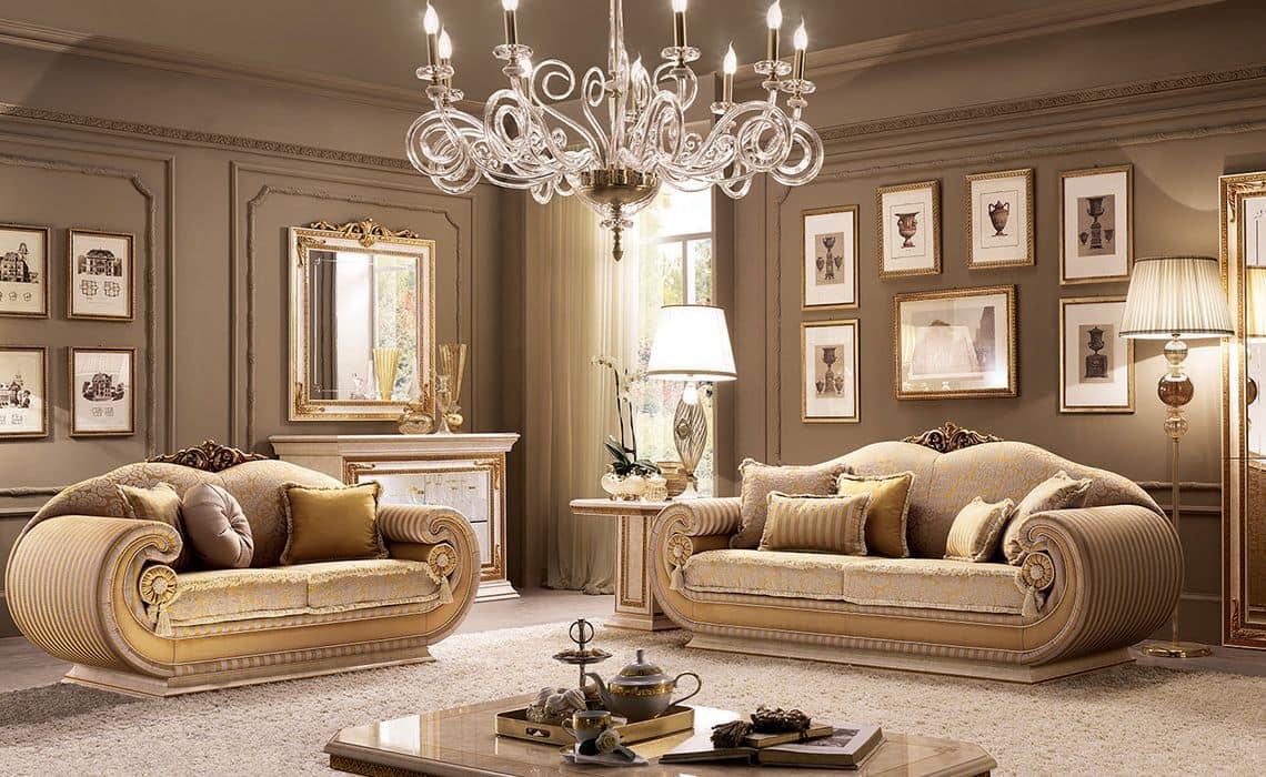 Moderne klassische wohnzimmer f r villen idfdesign - Klassische wohnzimmer ...