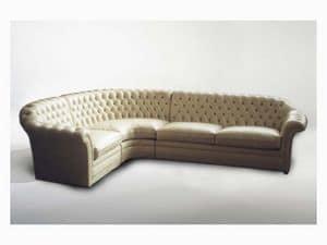 Lloyd Angular Sofa, Ecksofa für große Wohnzimmer, im klassischen Stil