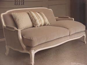 Louis, 2-Sitzer-Sofa, klassisch, lackiert, für Wohnzimmer