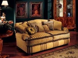 Marcus sofa, Luxus-Sofa mit niedrigen Armlehnen, klassischen Stil