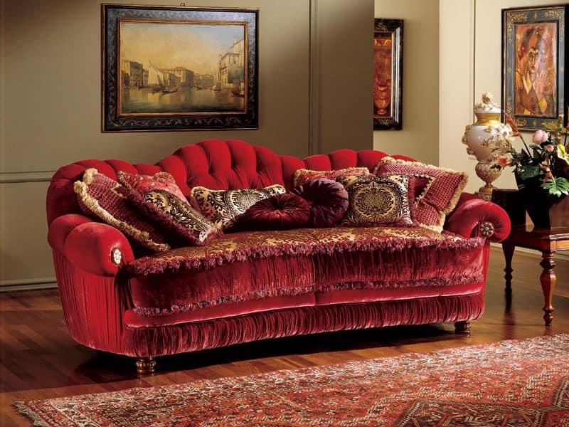 Marika Sofa, Klassischen Stil Sofa mit gesteppter Polsterung