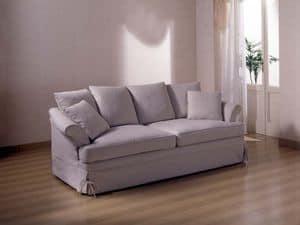 Marlene Sofa, Sofa für Wohnzimmer, mit abnehmbarem Stoffbezug