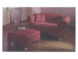 Matilda Sofa, Klassische Sofa, für den Empfang und Wohnzimmer