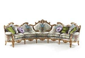 Millionaire Uno B/1803/1/5, Hand geschnitzte Sofa, für das Hotel