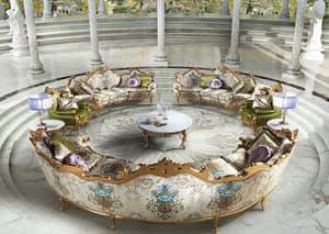 Millionaire Uno, 5-Sitzer klassischen Luxus-Sofa für Wohnzimmer