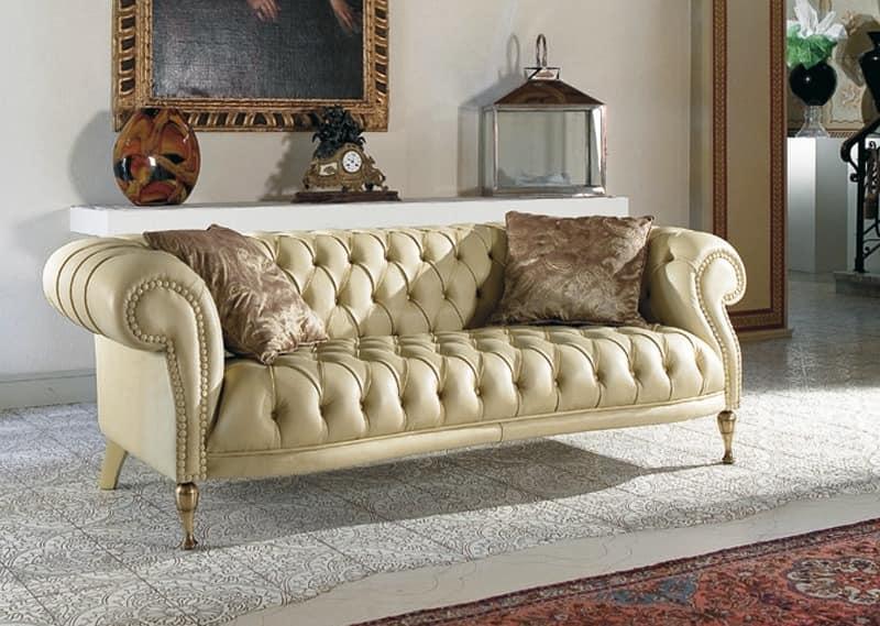 Klassisches Sofa gesteppt klassisches sofa für wohnzimmer idfdesign