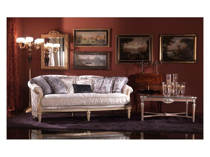 franz sisch stil sofa gepolstert in seide klassischen. Black Bedroom Furniture Sets. Home Design Ideas