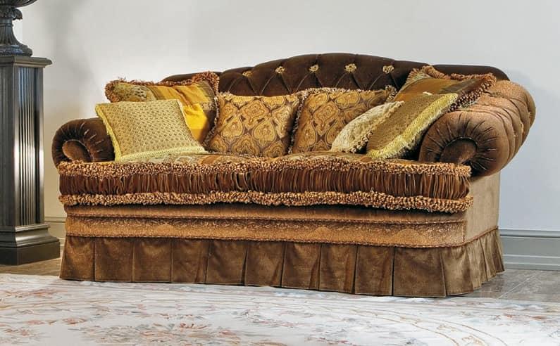 sofa mit tufted zur ck samtbeschichtung idfdesign. Black Bedroom Furniture Sets. Home Design Ideas