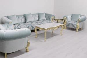 Oceano damascato, Hochwertiges Sofa im klassischen Stil