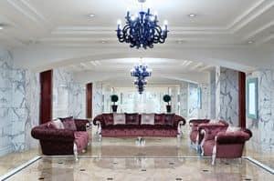 Oceano klassischen Stoff, Luxus-Sofa, gesteppt von Hand von Handwerkern