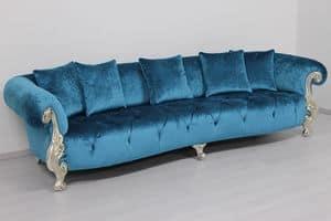 Oceano türkis, Klassisches Sofa ideal für Luxus-Villen und Hotels