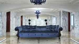 Oceano Walnuss, Klassisches Sofa ideal für Villen und Hotels