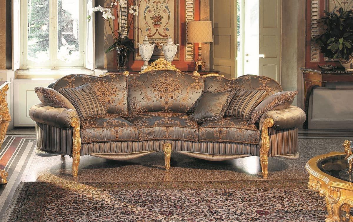 elegante drei sitzer sofa handgeschnitzten die. Black Bedroom Furniture Sets. Home Design Ideas