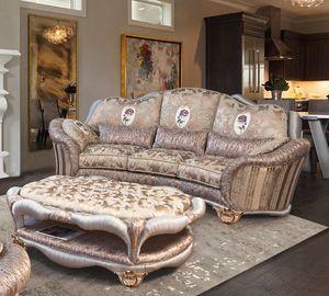 Prodige Sofa, Klassisches Sofa, gekennzeichnet durch Faltenverarbeitung