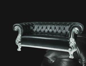 Queen Ledersofa, Geschnitztes Sofa, klassisch modernen Stil