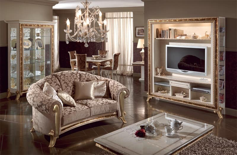 polster klassischen luxus sofa goldenen verzierungen idfdesign. Black Bedroom Furniture Sets. Home Design Ideas