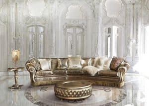 Florida, Sofa mit Goldkante, zum klassischen Aufenthalt