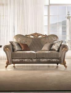Sinfonia divano, Gepolsterten Sofa mit weichen und kompakten Linien