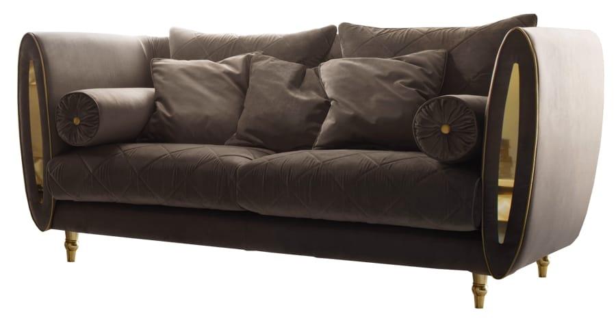 SIPARIO Sofa, Klassisches Sofa mit goldenen Füßen