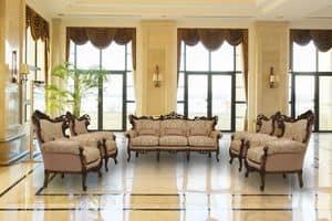 Stradivari walnuss, 3 -Sitzer-Sofa ideal für Luxus-Villen