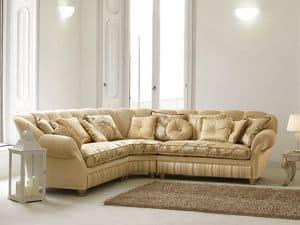 Teseo Ecke, Sofa in Luxus-klassischen Stil, kurvenreichen Form
