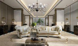 VANITY, Klassisches Sofa mit repräsentativer Stickerei