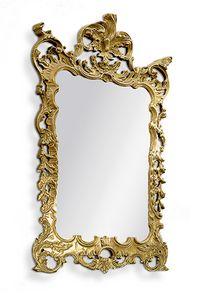 2578, Geschnitzter rechteckiger Spiegel