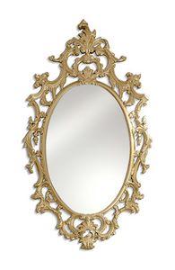 2580, Ovaler Spiegel mit Schnitzen und offener Arbeit