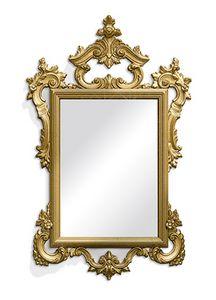 2582, Geschnitzter rechteckiger Spiegel