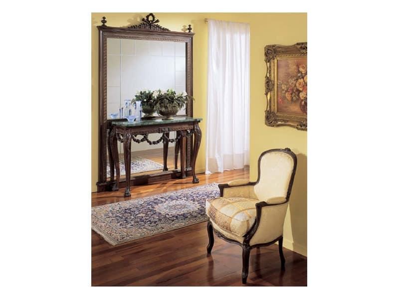 3160 MIRROR, Luxus klassischen Spiegel in der Hand geschnitzten Holz