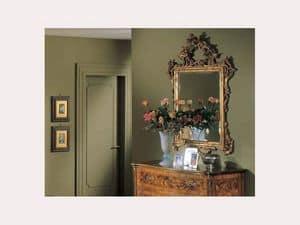 3265 MIRROR, Klassisch rechteckiger Spiegel, von Hand geschnitzt