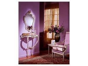 3330 MIRROR, Klassische Spiegel mit Blattsilber Finish, für Lobby