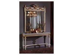 3425 SPIEGEL, Klassisch rechteckiger Spiegel, Stil Louis XVI