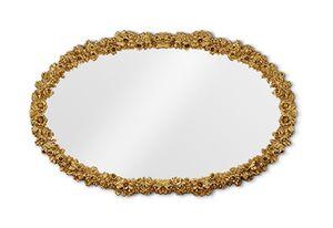 4058, Geschnitzter ovaler Spiegel