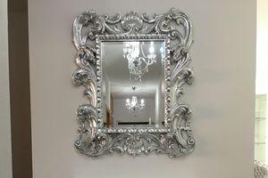 Loto kleiner Spiegel, Klassische Spiegel mit Blattgold Veredelungen Rahmen