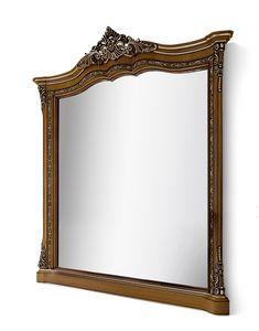 4615, Spiegel mit geschnitztem und offenem Oberteil