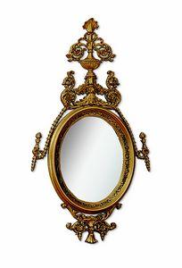 4617, Ovaler Spiegel mit Schnitzen und offener Arbeit