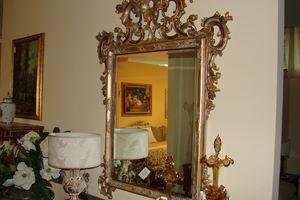 Art. 157, Florentiner Spiegel, von Hand geschnitzt