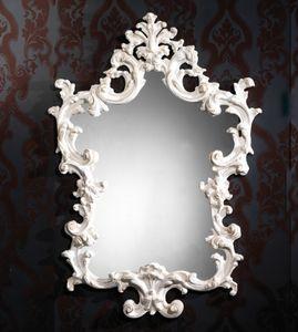 Art. 20502, Spiegel mit geschnitzten weißen Rahmen