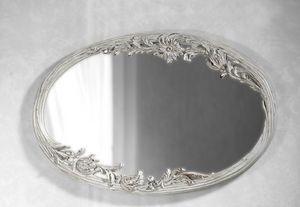 Art. 20525, Weißer Spiegel mit Blumenschnitzereien