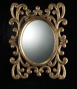 Art. 20900, Ovaler Spiegel mit geschnitzten Rahmen